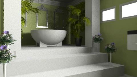 green bathroom - Modern - Bathroom  - by auntiehelen