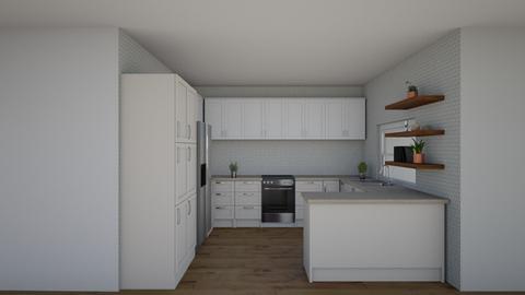 planta baja cocina 3 - Kitchen  - by Andrea castilla