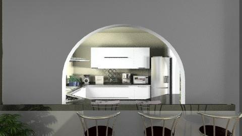 modern green kitchen - Modern - Kitchen - by saraho1990
