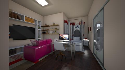 College Eli - Bedroom  - by emivim