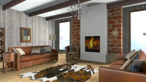 living room  - Rustic - Living room  - by bethany81