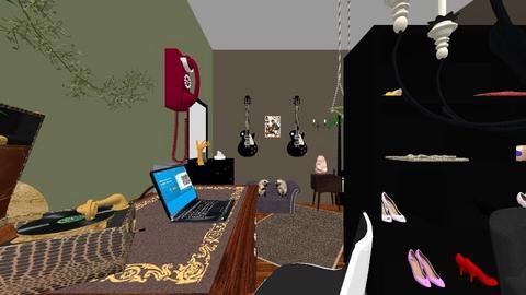 dorm room 2 - Vintage - Bedroom  - by lennebendien