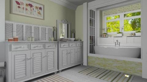 Cottage Bath 2 - Bathroom  - by Violetta V