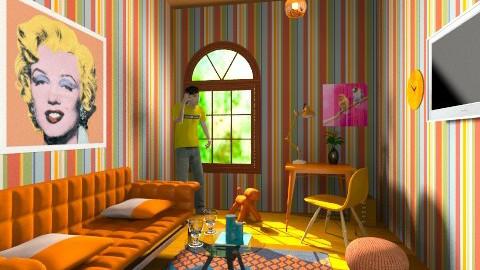 oraange - Eclectic - Living room  - by Samphire