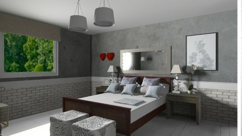For Ahynes87 - Eclectic - Bedroom  - by calu13