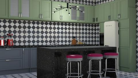 Retro - Retro - Kitchen  - by NEVERQUITDESIGNIT