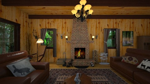 Mountain Cabin - Country - by  krc60