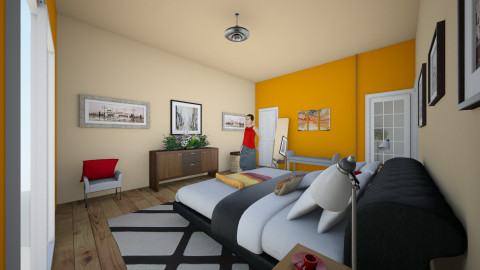 recamara - Retro - Bedroom  - by ary