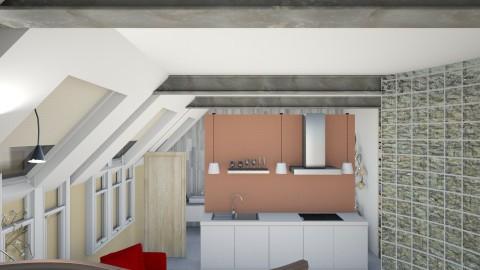 Converted garage studio - Modern - Kitchen - by sharalynne