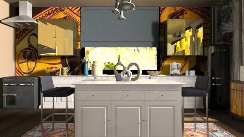 greek glamour spirit  - Modern - Kitchen  - by vesperart