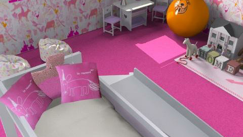 Little girls room - Glamour - Kids room  - by Betija Muizniece
