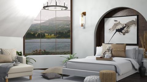 Sloped Ceiling Bedroom - Bedroom  - by ItsKalaniOfficial