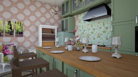 Shabby Kitchen - Kitchen - by HIHELLOHI