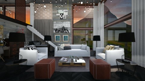 a something - Modern - Living room - by Evangeline_The_Unicorn