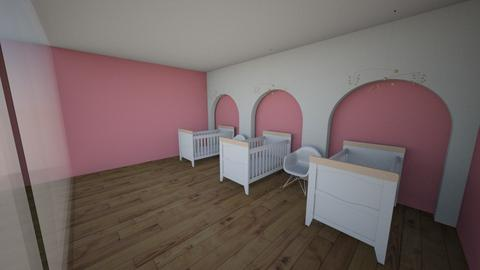 girl triplet baby room - Kids room - by Ellzbee