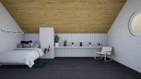 Attic room - Bedroom  - by WhyIsGamora