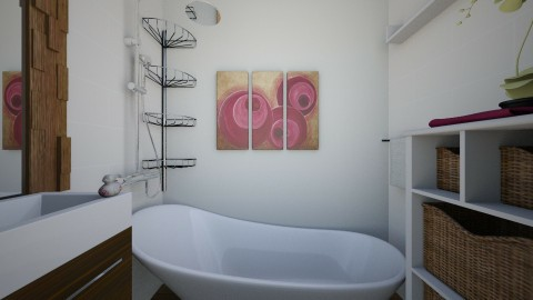 22 m Studio bathroom - Minimal - Bathroom  - by Julia Syrykh