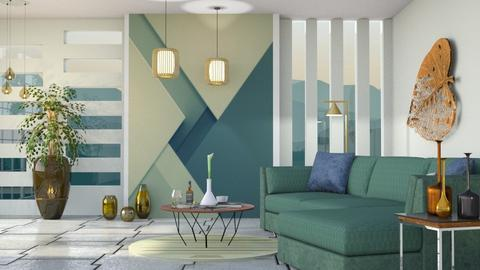 M_ Geometric - Living room - by milyca8