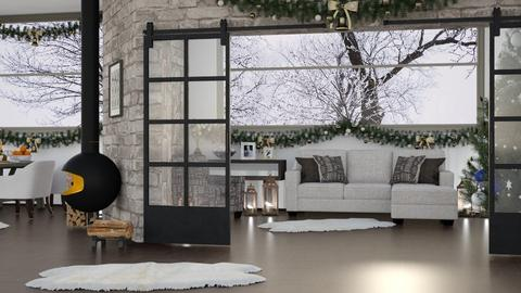Winter Home LR - Rustic - Living room  - by millerfam