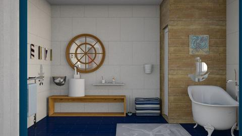 Nautical kids bath - Bathroom  - by augustmoon