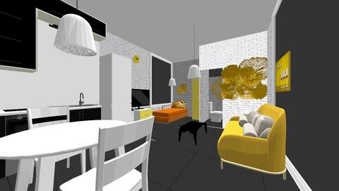 the trio colour apartment - Modern - Bedroom  - by h347
