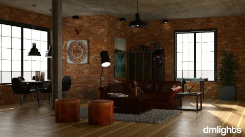 Loft masculino - Living room  - by DMLights-user-1101900