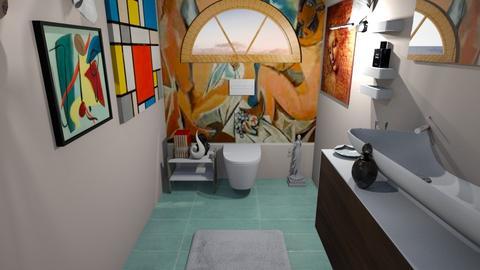 Arty toilet - Glamour - Bathroom  - by BlackOrchidea