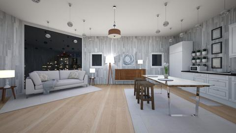 living room  kitchen - Living room  - by ChaTheRoomPlaner