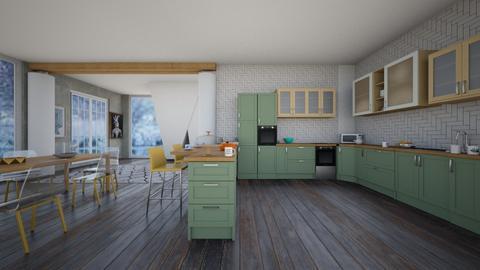 Sfot tone - Rustic - Kitchen  - by quesal0l2347
