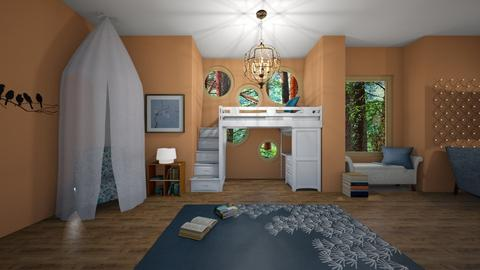 Bookworm Bedroom - Kids room  - by Anidori