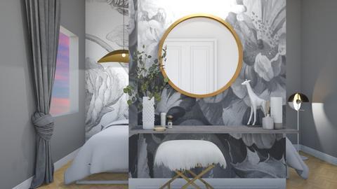 Grey flower bedroom - by Esko123