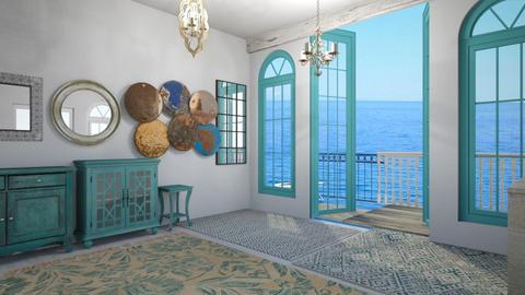 Turquoise Dawn - Bedroom - by lauren_murphy