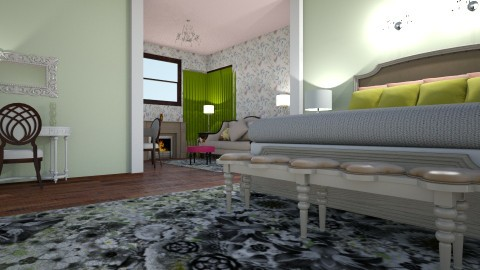 Mixed Counttry - Country - Bedroom  - by decordiva1