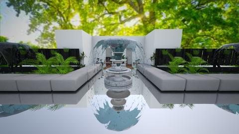 moroccan courtyard garden - Garden  - by wolfiewolf123