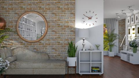 Bricks and White - Classic - Living room  - by LuzMa HL