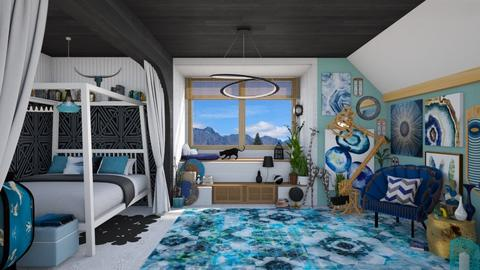 Maximalism - Bedroom - by Nicky West