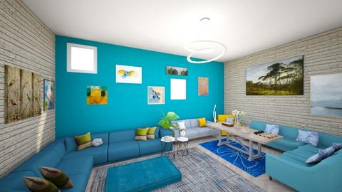 Blue living room - Rustic - Living room  - by Looking for happiness