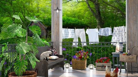 Grannys porch  - by BibiMarton