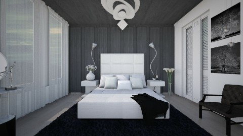M_Black Night - Modern - Bedroom  - by milyca8