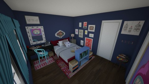 Eclectic Bedroom - Eclectic - Bedroom  - by hwoodward1