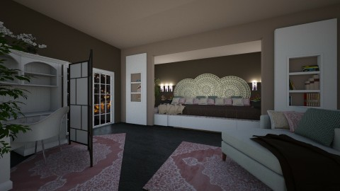 raised king bedroom - Classic - Bedroom  - by kla