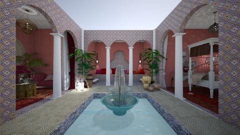 Moroccan courtyard - by Themis Aline Calcavecchia