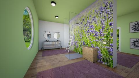 Lazing in Lavender - Bathroom  - by Nikki Lipstick