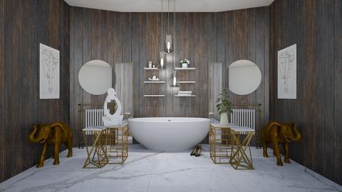 Symmetry  - Modern - Bathroom  - by evabarrett