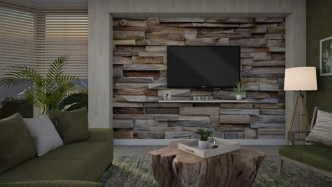Wooden wall interior - Living room  - by ginamelia22