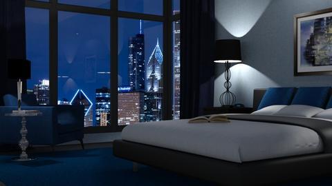 black and blue - Bedroom  - by GraceKathryn