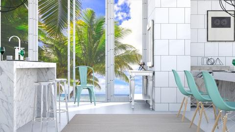 Fresh Beachy Kitchen - Modern - Kitchen  - by millerfam