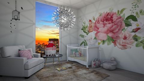 Vintage Flower - Kids room  - by LiveItUp