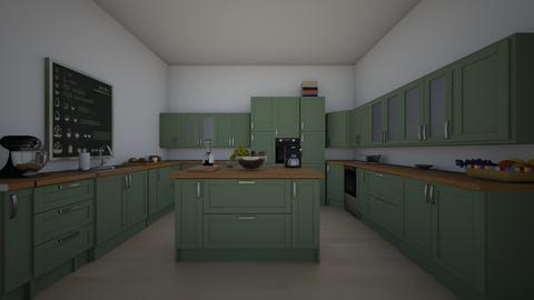 Greys kitchen - Modern - Kitchen  - by Littlestars