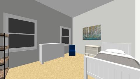 N bedroom Bed btwn window - Kids room  - by lieu2u